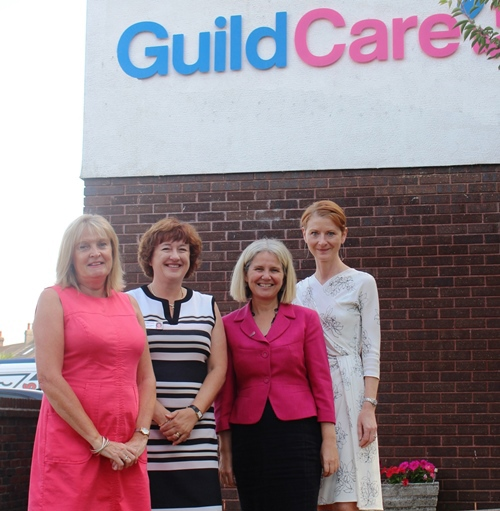 Guild Care CEO Suzanne Millard with Trustee Antonia Hopkins and Katie Glover, CE Coastal West Sussex Mind and Mary DArcy director or Adur and Worthing Council