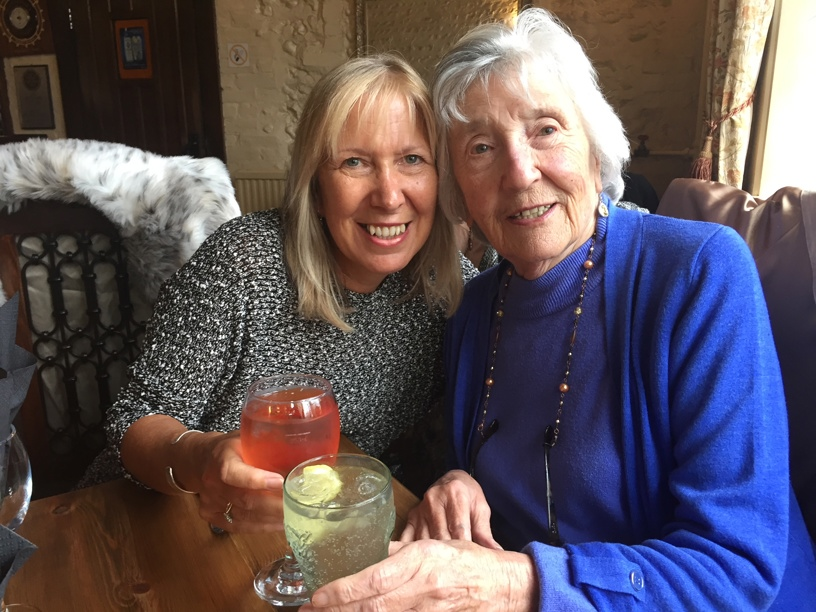 Rene Norman with her Daughter Jo. Rene was a regular user of our day services for over 15 years. She then had a stroke and spent her final months in our care home Linfield House.