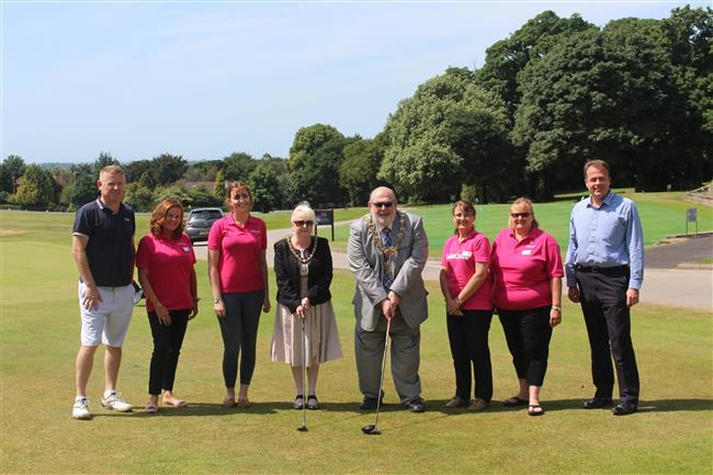 Picture of a group of people from Guild Care and including the mayor of Worthing to launch the Guild Cares 27th Annual Golf Challenge