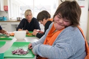 Worthing Scope service user making food