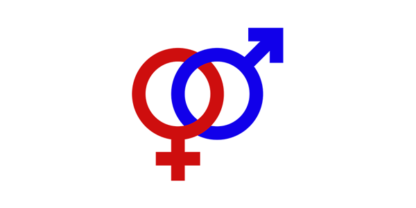 The gender symbols intertwined