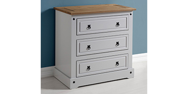 Grey set of three drawers from the Corona range
