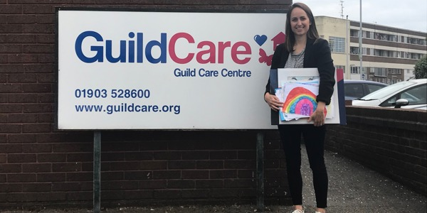 Children of Classic Collection staff send pictures and letters to Guild Care's residents
