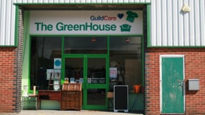 The front of the Greenhouse Charity Superstore