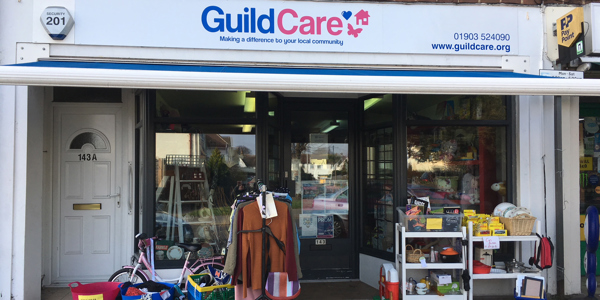 The front of the South Farm Road Guild Care charity shop
